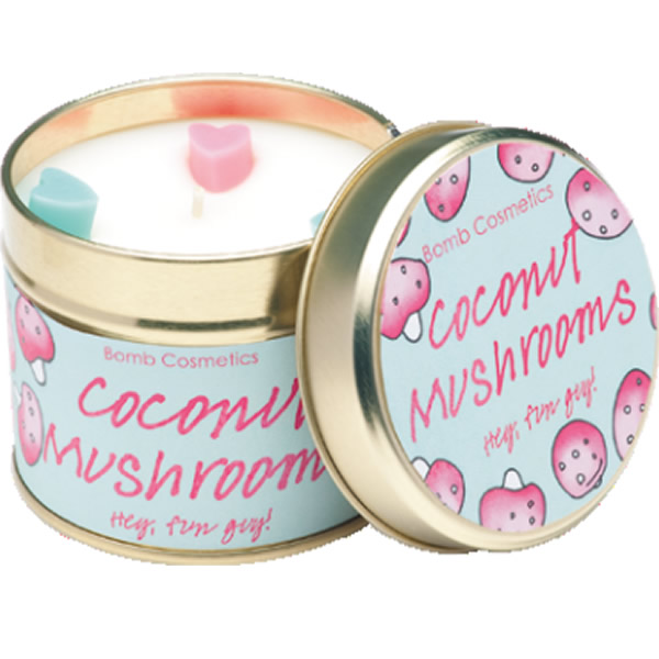 BOMB COSMETICS TINNED CANDLE COCONUT MUSHROOMS