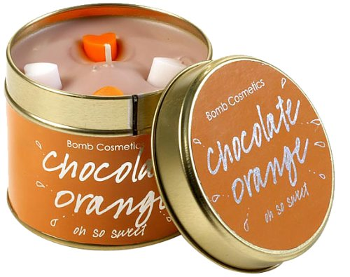 BOMB COSMETICS TINNED CANDLES CHOCOLATE ORANGE