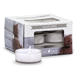 GOOSE CREEK CLEAN LINEN TEALIGHTS