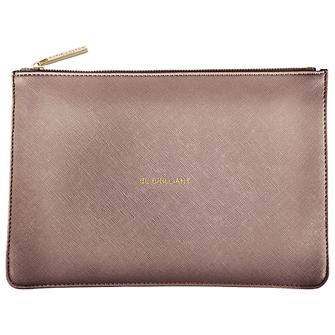 KATIE LOXTON PERFECT POUCH BE BRILLIANT (ROSE PEWTER)