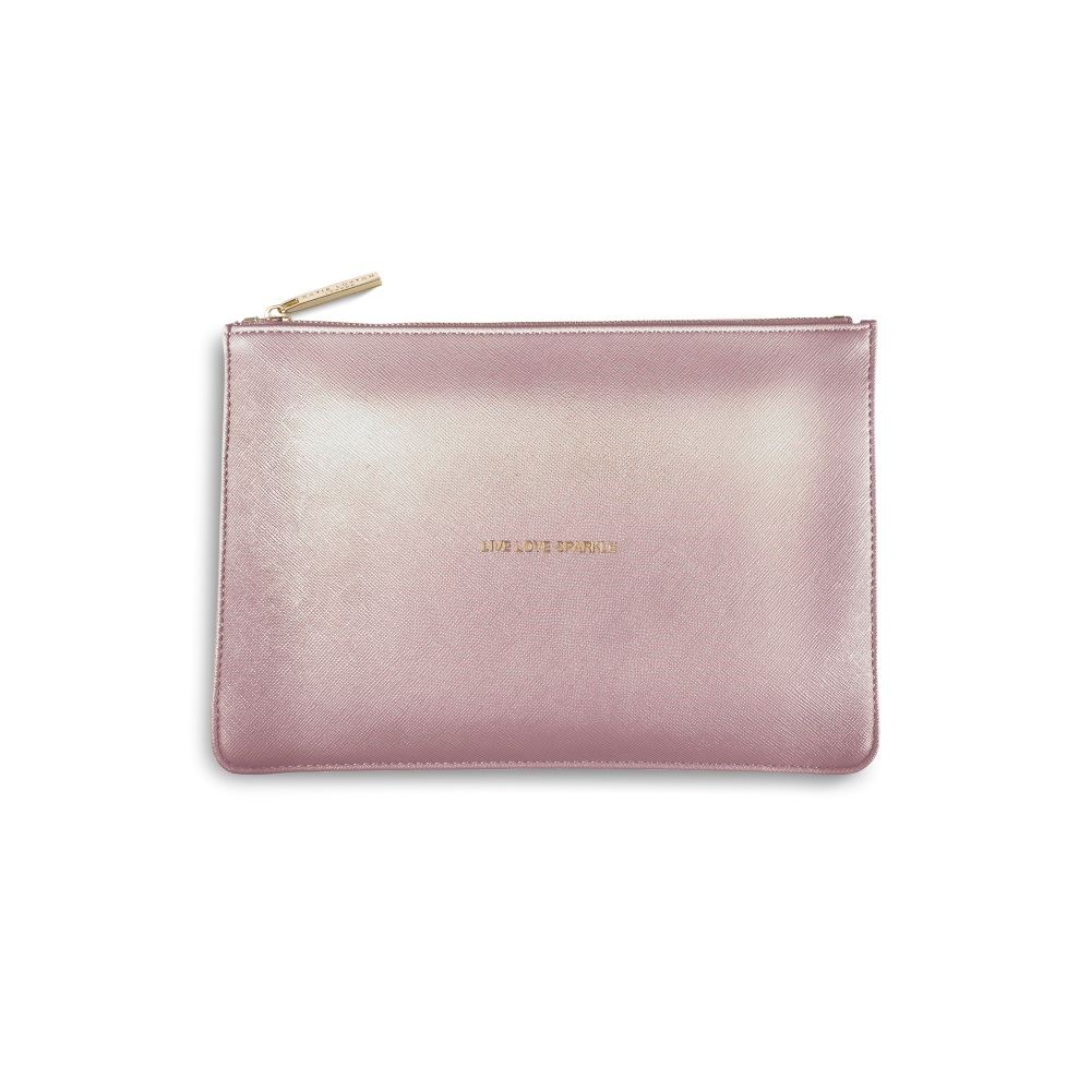 KATIE LOXTON PERFECT POUCH METALLIC PINK/LILAC (LIVE LOVE SPARKLE)