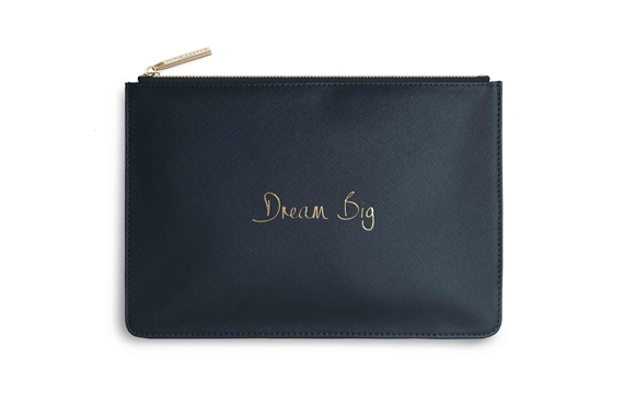 KATIE LOXTON PERFECT POUCH DREAM BIG NAVY