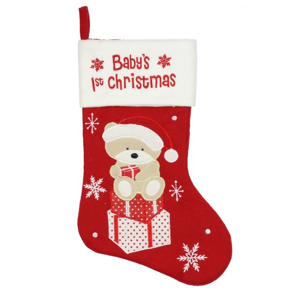 BABYS 1ST CHRISTMAS STOCKING
