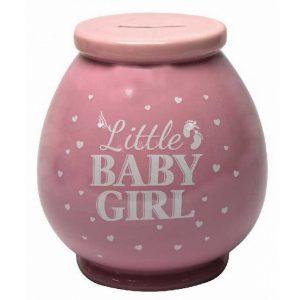 BABY GIRL CERAMIC MONEYBOX