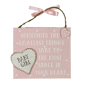 THE SMALLEST THINGS GIRL PLAQUE