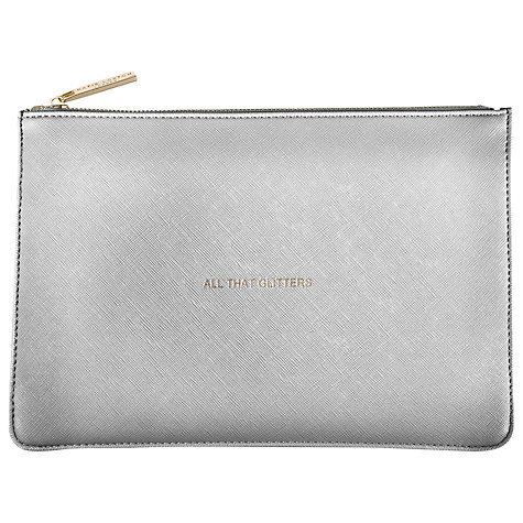 KATIE LOXTON PERFECT POUCH SILVER (ALL THAT GLITTERS)