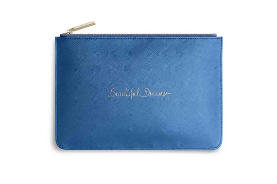 KATIE LOXTON PERFECT POUCH BEAUTIFUL DREAMER METALLIC DARK BLUE