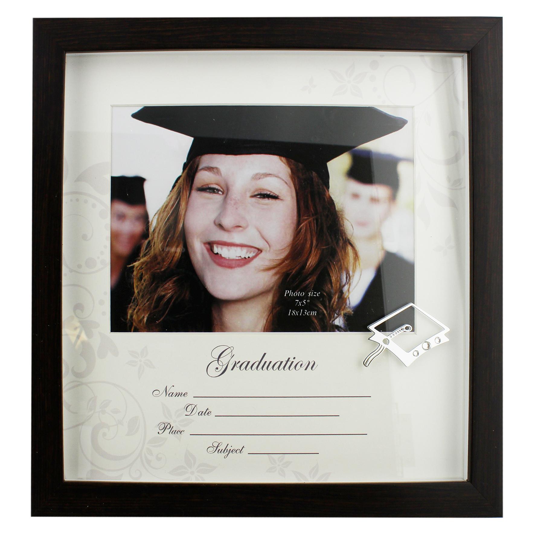 Large Dark Wood Graduation Frame Homely Gifts