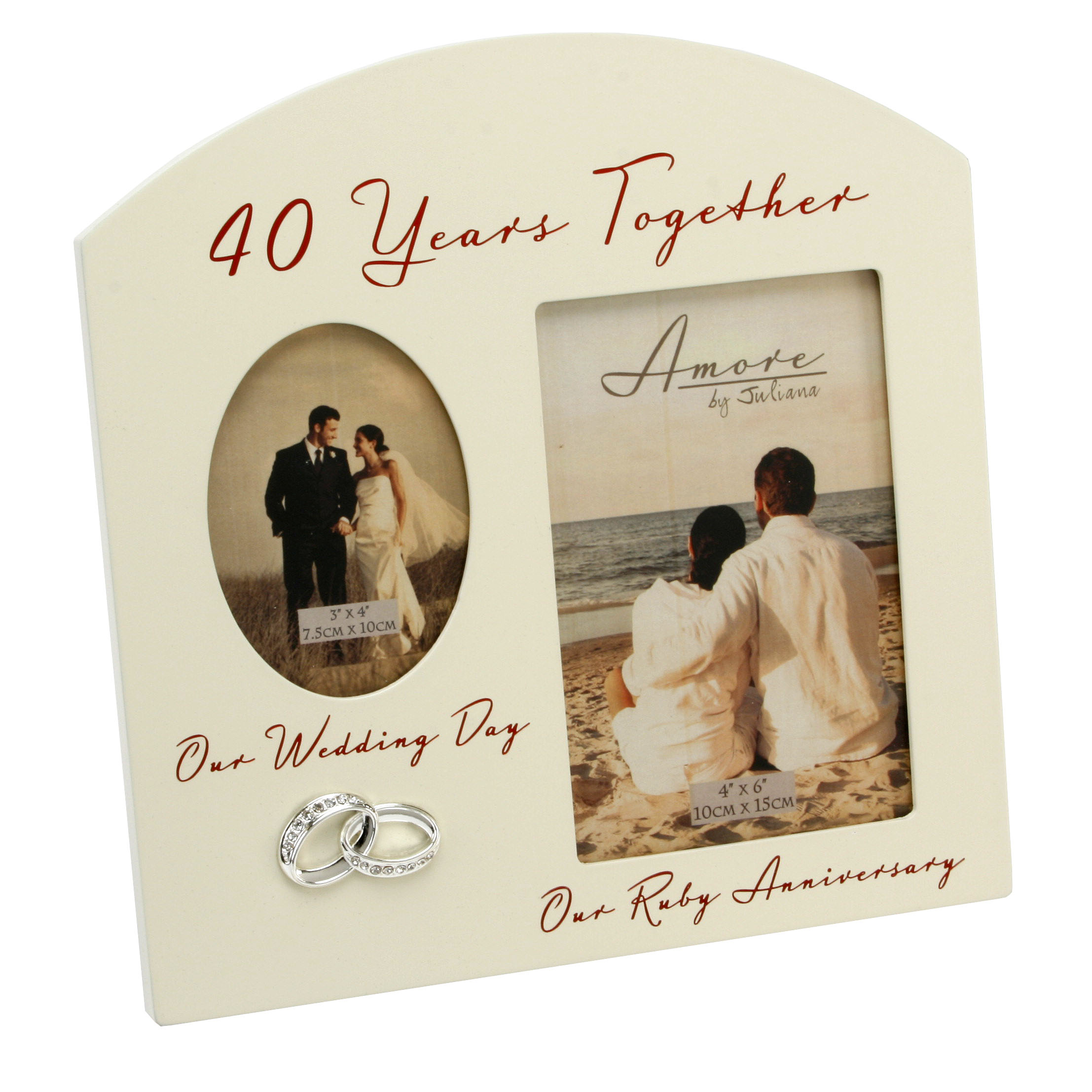 40th Wedding Anniversary Frame Homely Gifts